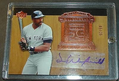 - 2005 Ud Dave Winfield Hall Of Fame Essential Enshrinement Auto 05/25