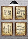 Gifts for Beer Drinkers! - Vintage Beer Themed Patents - Set of Four - 8'x10' Prints - Ideal gift for Beer Enthusiasts!...