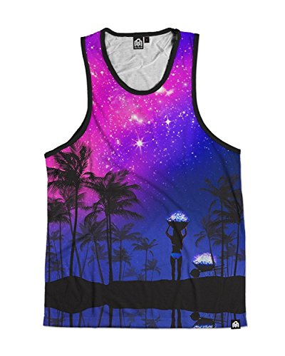 INTO THE AM Summer Nights Premium All Over Print Tank Top (X-Large)