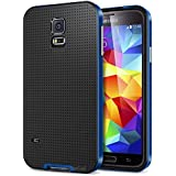 mc-dingar FULLMOON(TM) Ultra Thin Slim Design Soft Hybrid PC Bumper Case Cover For Samsung Galaxy S5 i9600 (Black...