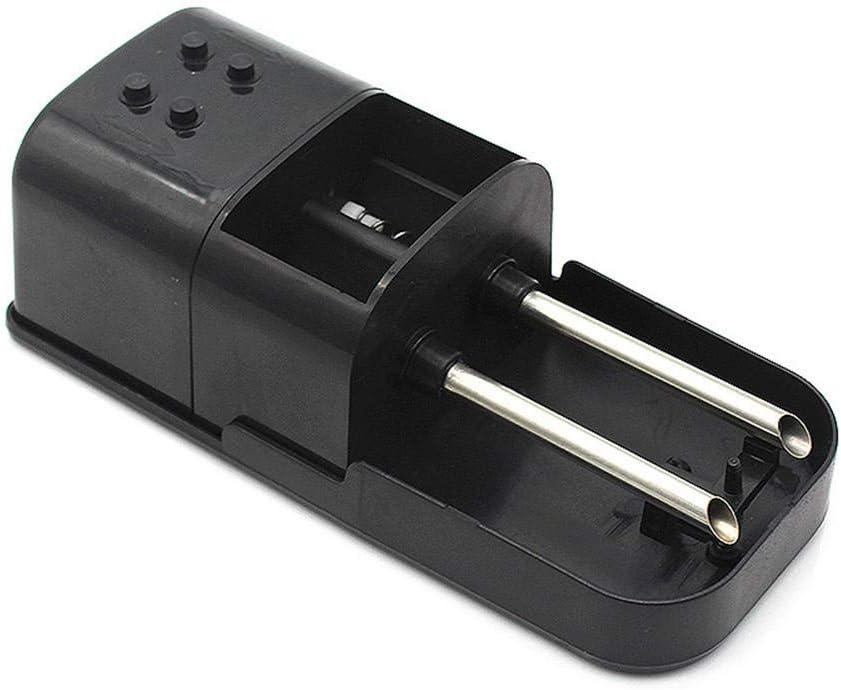 Extractor de humo de doble tubo Pequeño fabricante de cigarrillos-Negro