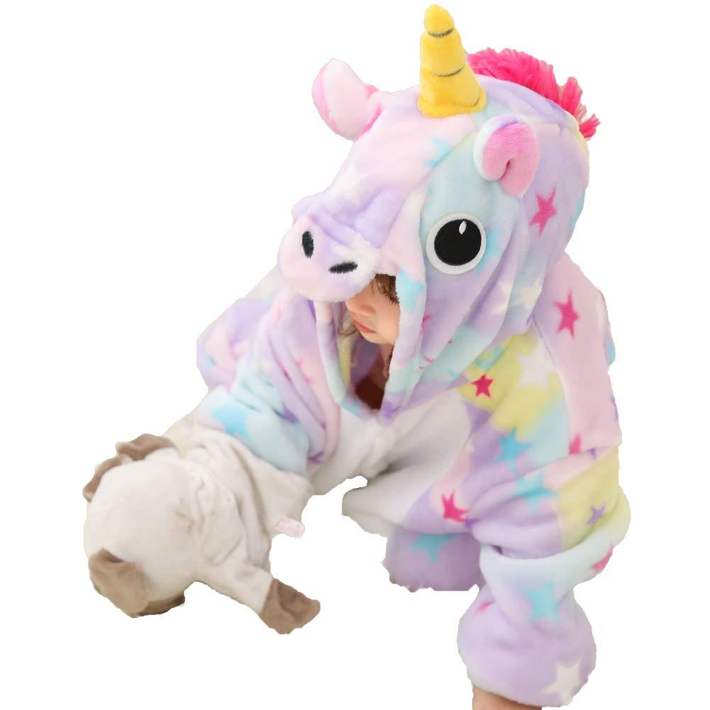 Blank King Kids Animal Unicorn Pajama Onesie Halloween Costume (XL, Unicorn Multicoloured)