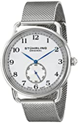 Stuhrling Original Men's 207M.01 Classique Swiss Quartz Stainless Steel Mesh Watch