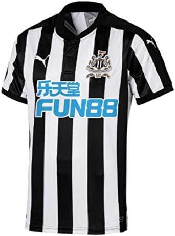 PUMA Mens Newcastle Home Replica Shirt with Sponsor Logo