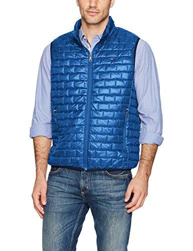 - Tommy Hilfiger Men's Box Quilted Lightweight Ultra Loft Vest, New Royal, Large