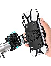 Bike Phone Mount Bicycle Holder,2020 Bicycle Smartphone Holder Bike Smartphone Holder Detachable Type 360 Degree Rotatable Rest Rest Prevention GPS Mobile Phone Mount Stand 4-6.5 inch iPhone/Android Multi-model Pair