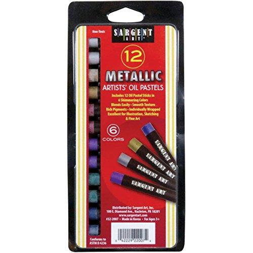 Oil Metallic Pastels (Sargent Art Gallery Metallic Oil Pastels 12/Pkg-)