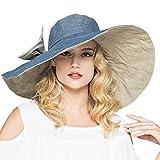 Women's Cowboy Packable UV Fedora Sun Hat Summer Beach Outdoor Visor Cap