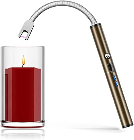 BBQ Candle Kitchen Windproof Long Rechargeable USB Flexible Electric//ARC Lighter