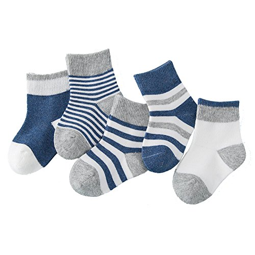 Pinwang liner socks and casual socks for boys and girls 4-6 years old #PWZ07(navy)