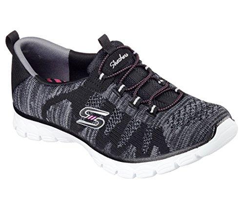 Skechers Vrouwen Ez Flex 3,0 Take-the-lead Sneakers Zwart / Wit