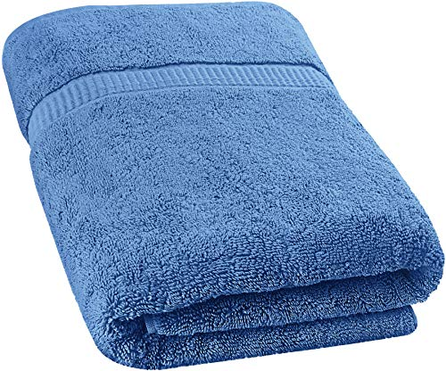 Utopia Towels - Luxurious Jumbo Bath Sheet (35 x 70 Inches, Wedgewood) - 600 GSM 100% Ring Spun Cotton Highly Absorbent and Quick Dry Extra Large Bath Towel - Super Soft Hotel Quality Towel