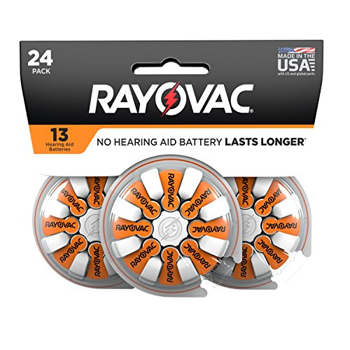 RAYOVAC Size 13 Hearing Aid Batteries, 24-Pack by Rayovac
