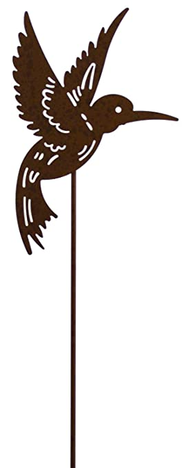 Harbor Gardens ZT171410E 36u0026quot; High Yard Art Steel Hummingbird Garden  Stake
