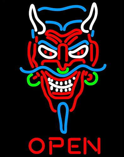 iecool Tattoo Devil Open Neon Sign 30