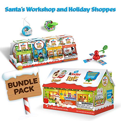 Kinder JOY Eggs, Holiday Village Bundle: 10 Eggs and Surprise Toys Total, 7 oz