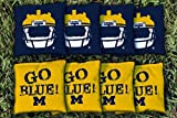 Replacement Michigan Wolverines Go Blue Cornhole Bag Set (corn-filled)
