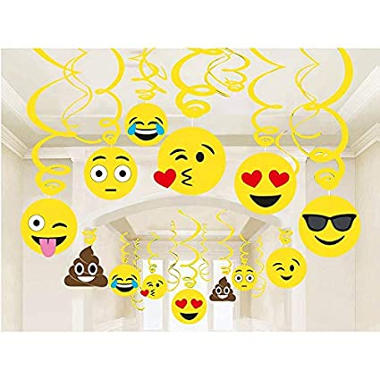 Kristin Paradise 30Ct Emoji Hanging Swirl Decorations