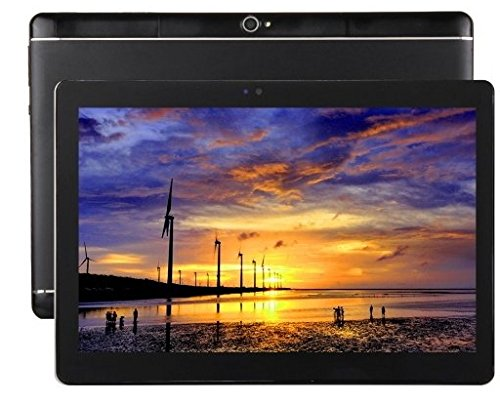 10.1 inch Android 6.0 HD Resolution 2560 1600 4GB RAM 64GB ROM MTK6592 Octa core 2.0 GHZ 2.0MP + 8.0MP dual camera 4G network call Dual SIM card Tablet PC Metallic shell Black -  QIN