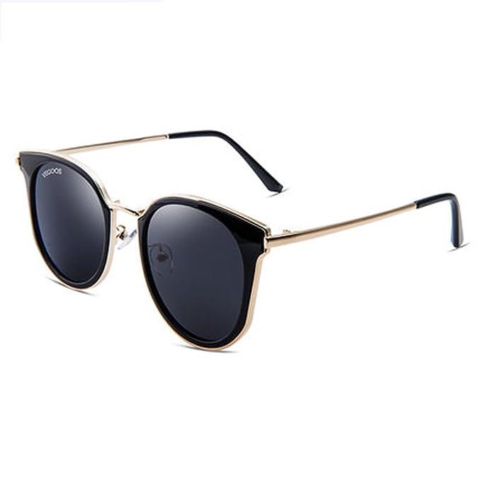 Gafas de sol de las mujeres nuevas gafas de sol polarizadas gafas grandes de la caja