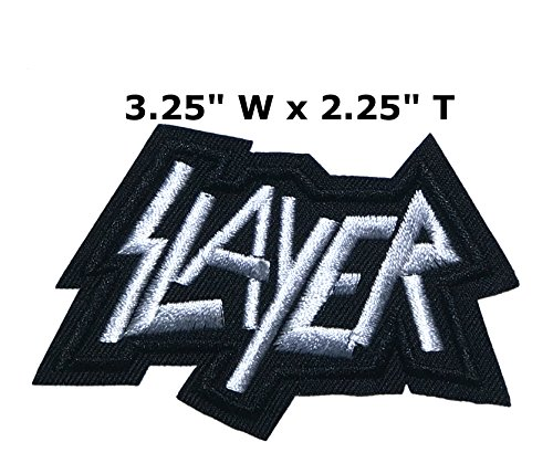 Outlander Outdoor Brand Application Classic Rock Slayer Band Music Cosplay Badge Embroidered Iron or Sewn-On Applique (Slayer Classic Costumes)