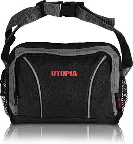 Travel Sport Large Waist Pack Fanny Bag - 2 Zipper with Side...