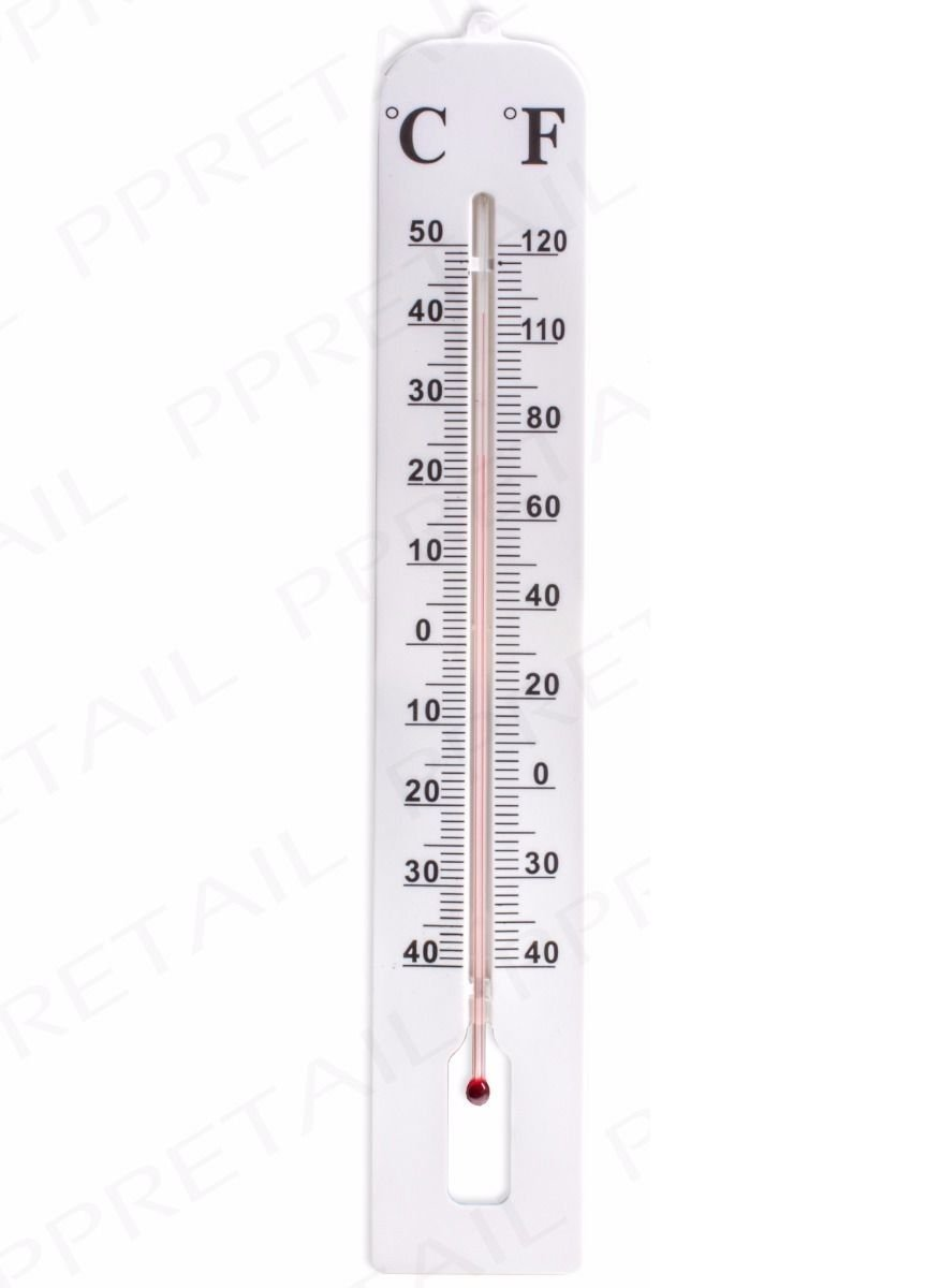 Home Tools Large Indoor Thermometers. Vertical Instant Read Meter Celsius & Fahrenheit. 15.57in