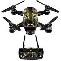 Skin for DJI Spark Mini Drone Combo - Neon Wolf| MightySkins Protective, Durable, and Unique Vinyl Decal wrap cover | Easy To Apply, Remove, and Change Styles | Made in the USA