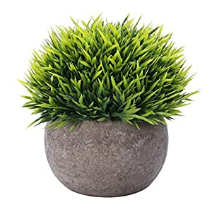 HC STAR Potted Artificial Pant Fake Green Grass with Pot Decorative Lifelike Set of 1 39