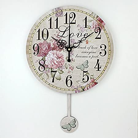 Amazon.com: Home Decoration Large Wall Clocks Silent Wall Clock Vintage Home Decor Fashion Big Wall Watches Relojes Decoracion Pared style 4 12 inch: ...