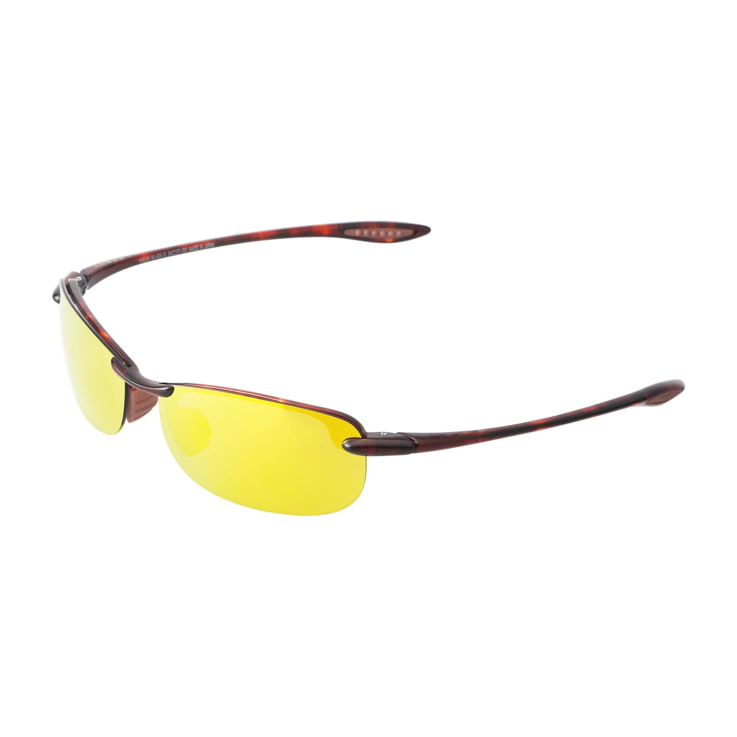 fcb4c3a0dd54d Walleva Replacement Lenses for Maui Jim Makaha Sunglasses - Multiple  Options Available (24K Gold - Polarized) at Amazon Men s Clothing store