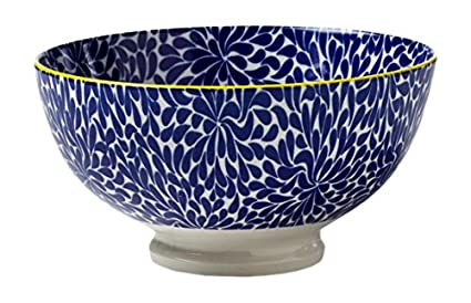 Torre & Tagus 910548U Kiri Porcelain 4.5-inch Small Bowl, Blue Iris
