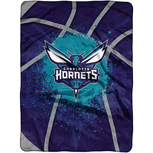 Officially Licensed NBA Charlotte Hornets Shadow Play Plush Raschel Throw Blanket, 60