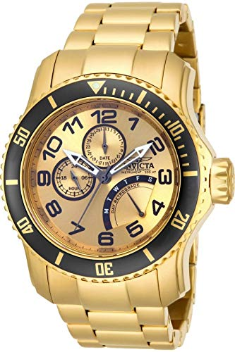 Invicta Men s 15343 Pro Diver 18k Gold Ion-Plated Stainless Steel Watch