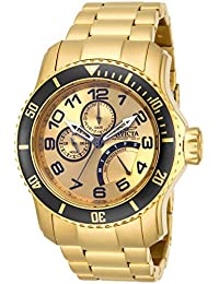 Men's 15343 Pro Diver 18k Gold Ion-Plated Stainless Steel Watch