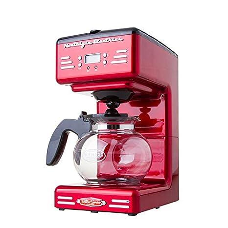 YFK doble taza de café de la máquina de negocios del hogar máquina de café de goteo 300ml , silver black , 300ml: Amazon.es: Hogar