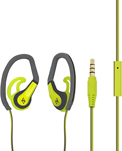 FIRSTEC Sweatproof Earphones Workout Spor In Ear Bass Headphones Stereo Sound for Most Audio Device with In-line Microphone Control and 3.5mm gold plated jack Running Gym Exercise for iphone Android