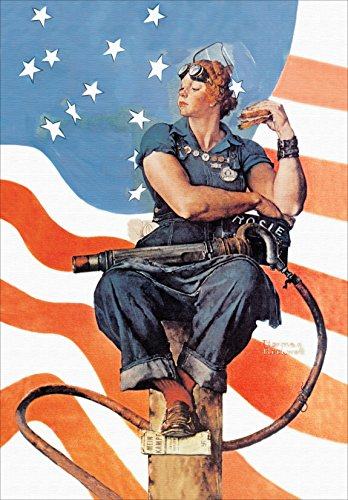 Rosie the Riveter - Armed Forces Matte Poster Print Wall Art