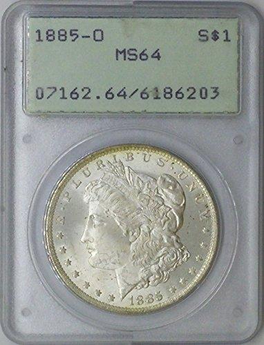 1885 O Morgan $1 MS64 PCGS Silver Dollar Old US Coin 90% Silver