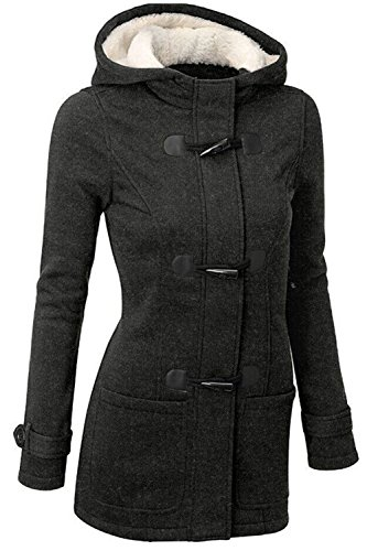 l'hiver Taille Outercoats Les Un Plus Chaudes Bouton La Page Polaire Darkgrey Haut De De La xz8Tz