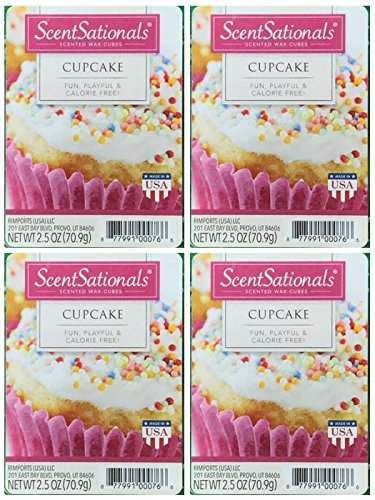 ScentSationals Cupcake Wax Cubes - 4-Pack