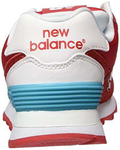 Balance Da Suede Rosso red Scarpe Basse Ginnastica New 574 Donna 1gqZFwvg
