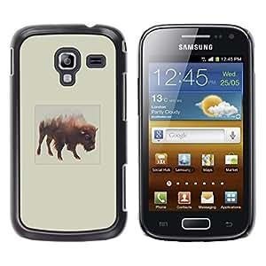 EJOY---Cubierta de la caja de protección la piel dura para el / Samsung Galaxy Ace 2 / --Montañas Búfalo