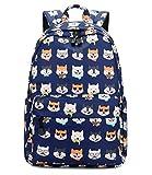 Abshoo Cute Lightweight Dog Backpack for Girls and Boys Kids School Backpacks (Husky Dog Navy)