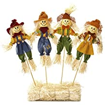 Darice Fall Floral Large Scarecrow Picks 6 x 18 inches Assorted Styles
