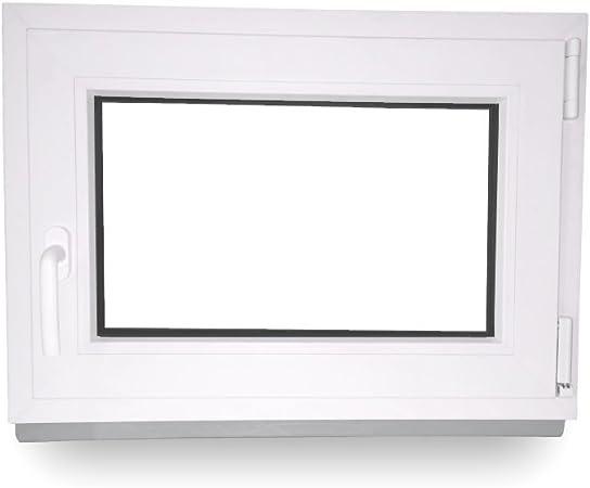 Fenster BxH: 60 x 50 cm DIN Links Kunststoff Kellerfenster anthrazit//wei/ß