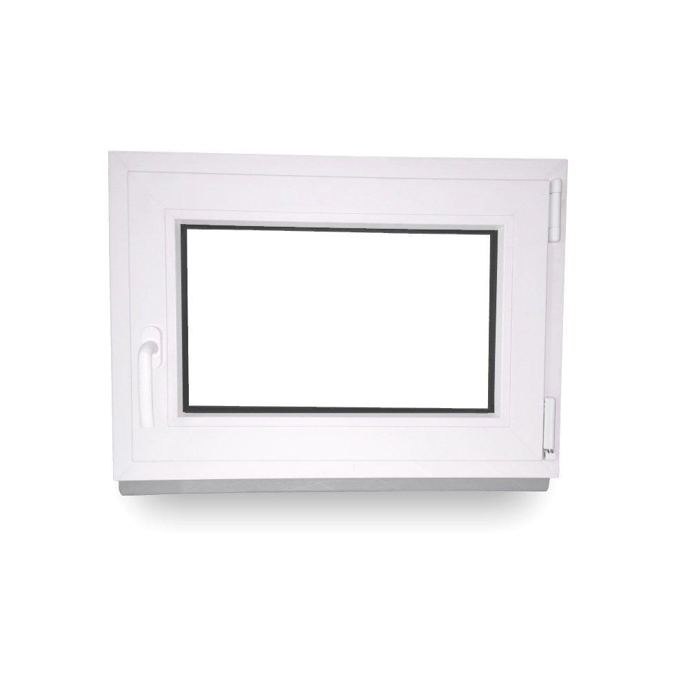 Lagerware DIN rechts- 2-fach-Verglasung BxH: 80 x 40 cm Kellerfenster Kunststoff wei/ß Fenster Wunschma/ße ohne Aufpreis