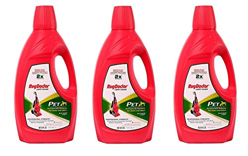 Rug Doctor Pet Formula Carpet Cleaning Solution, Permanently Removes Tough Pet Stains and Neutralizes Odors, Works in All Leading Deep Cleaning Machines, 64 oz. (3 PACK) by Rug Doctor