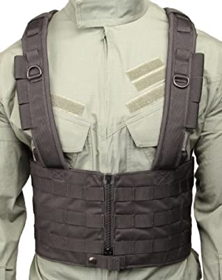 BLACKHAWK! Split Front Chest Rig, Black