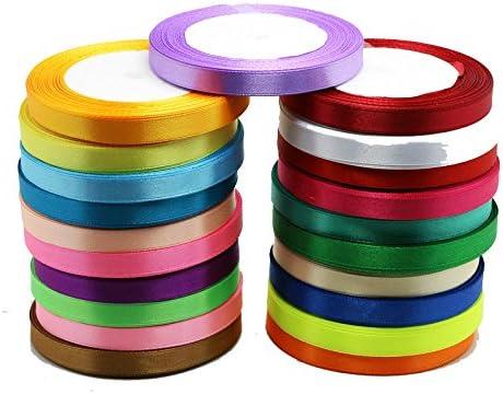 10 mm x 1 m cinta de raso carrete de ancho doble cara cinta rollo cinta manualidades por accesorios de calidad ático ®, raso, Amarillo, 10 mm: Amazon.es: Juguetes y juegos